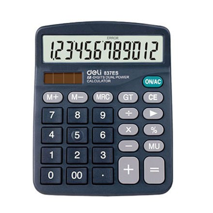 Del DL-837ES Desk Type Calculator  (12 digits)