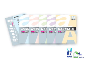 Double A Colour Paper 80 gsm. A4 (210 X 297 mm) (100sheets/pack)