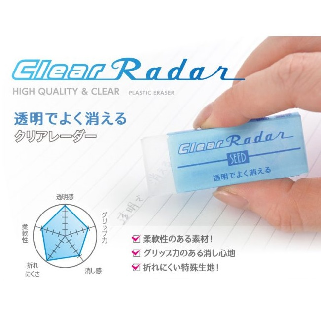 RADAR SEED EP-CL150 Clear Eraser (Big)