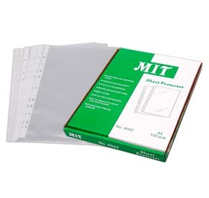 MIT 4060 A4 Sheet protector  11 holes (100sheets/pack)