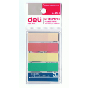 Deli  NO.9063 color flags -5color(45x12mmx5pcs/20sheets)