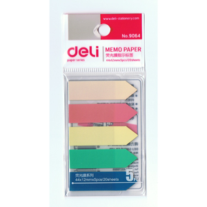 Deli  NO.9064 color flags -5color(44x12mmx5pcs/20sheets)