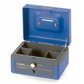 "Carl CB-8000N 5"" Double lock Cash Box"