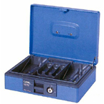 "Carl CB-8400 10-3/4"" Single Lock Cash Box"