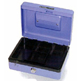 "Carl CB-2008 8"" Single Lock Cash Box"